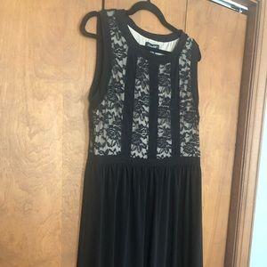Black and Tan lace a line dress XL